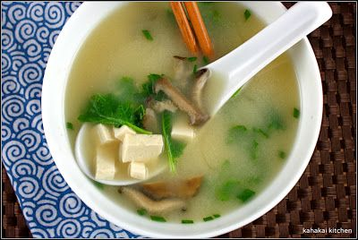Miso Soup with Tofu, Oyster Mushrooms & Baby Kale (bonus book review ...