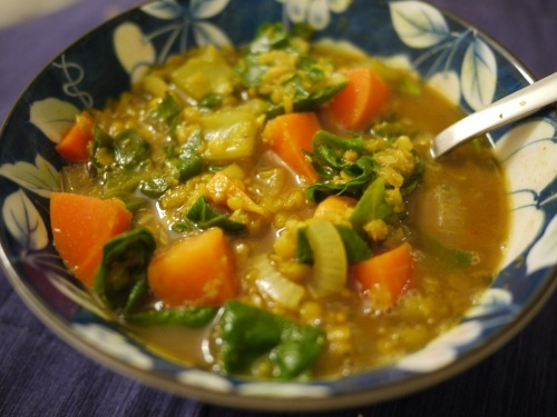 Blissfully Vegan: Curried Red Lentil Soup