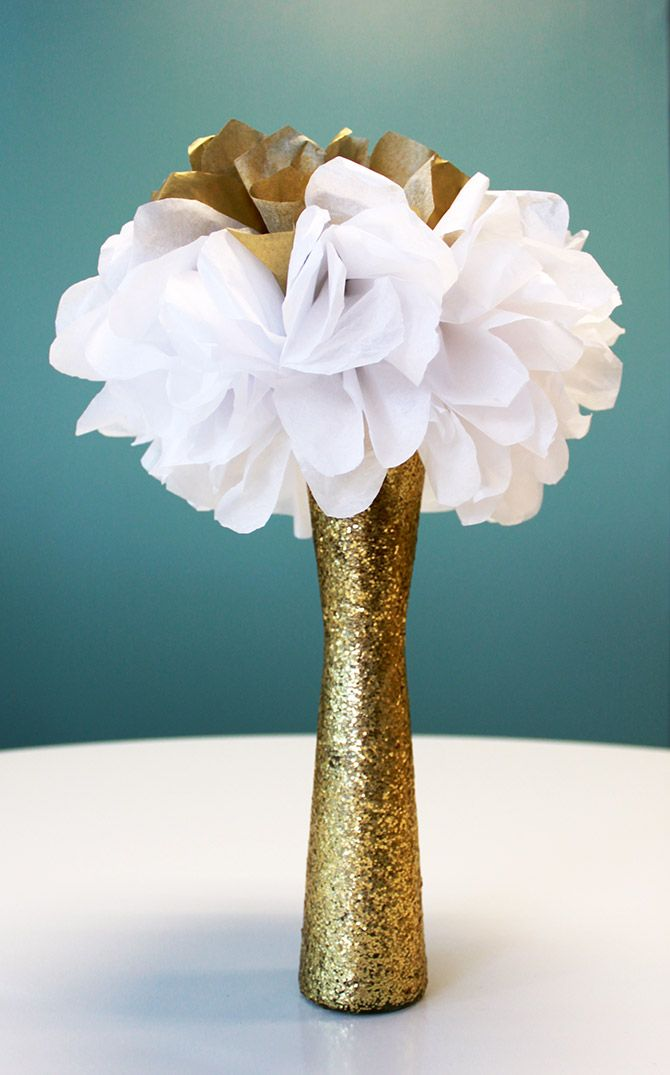How to make a sparkling vase #diy #crafts #glitter