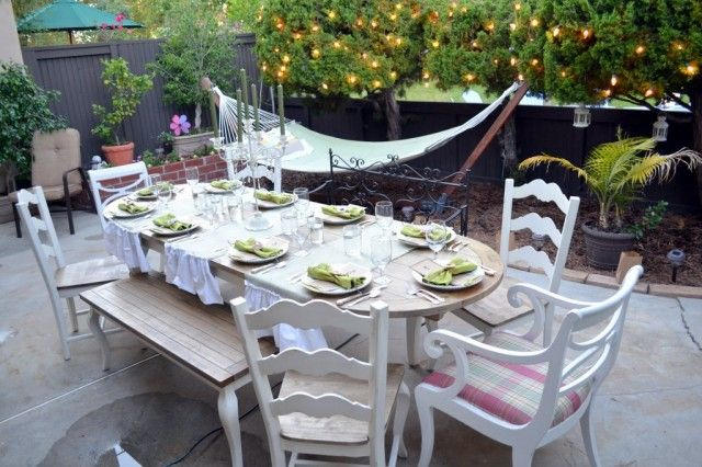 Nighttime Backyard Party Ideas :  love to throw an intimate dinner party for my friends like this