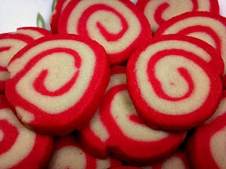 Peppermint Pinwheels- These are YUM!! A little time consuming to make ...