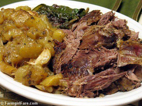 : Slow Roasted Greek Style Leg of Lamb with Lemon, Oregano, Potatoes ...