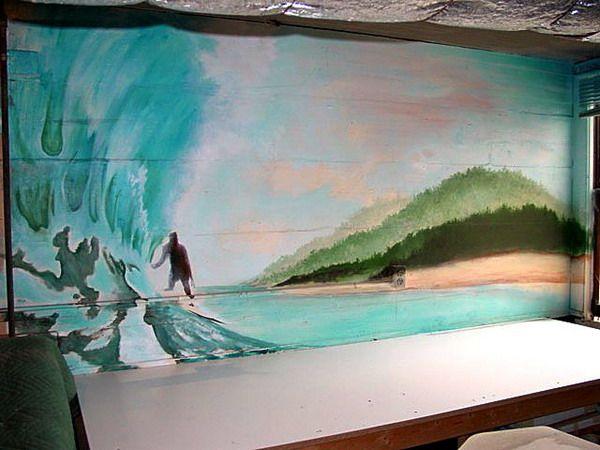 surfing wall murals dream house pinterest girls room wall murals 60 examples of wall murals for girls