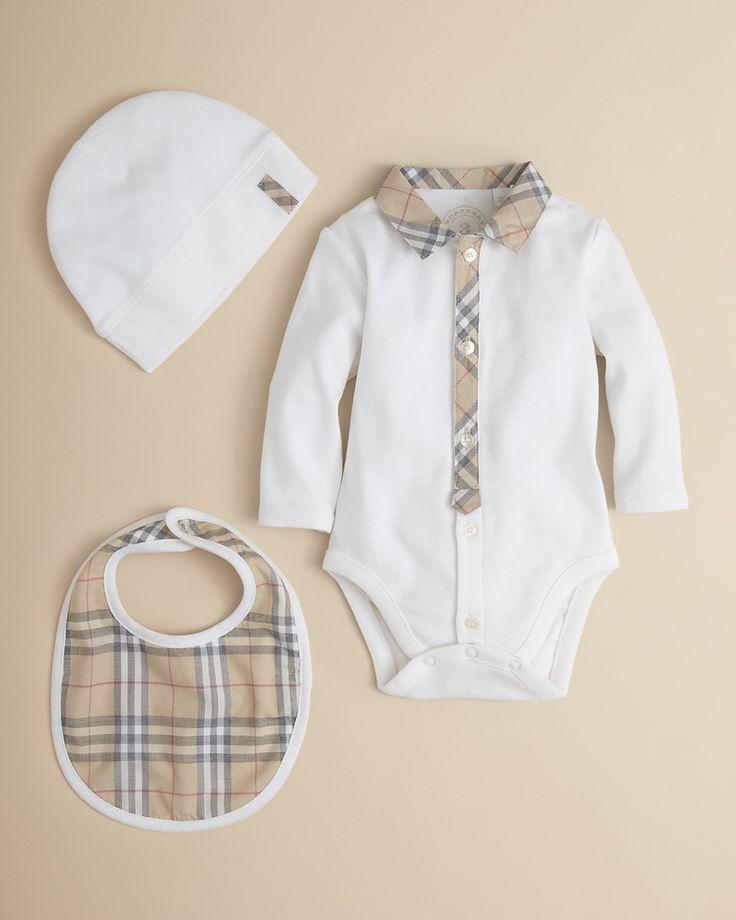 Burberry Infant Boys' Bodysuit, Hat & Bib Set – Sizes 1-18 ...
