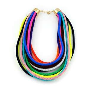 pretty colorful sabrina dehoff rope necklace