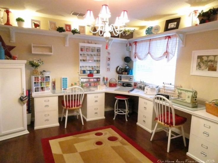 Pin by nancy cook on craft room ideas pinterest for Room setup ideas