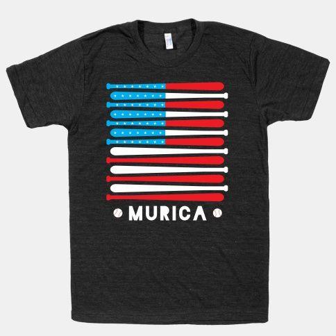 Great American Pastime! USA USA USA!! #baseball #murica #patriot #freedom #bat #ball #cool #shirt #america