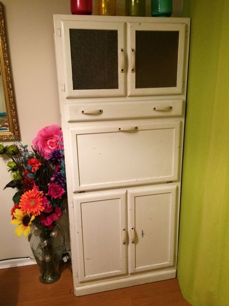 Vintage retro kitchen larder pantry unit cupboard cabinet for Kitchenette cupboard