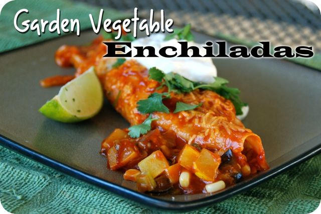Vegetable Enchiladas-I was thinking bell pepper, zucchini, carrots ...