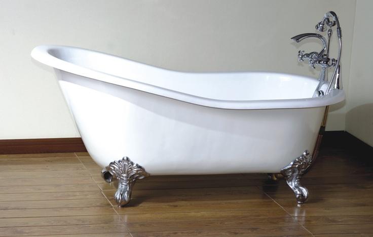 vintage clawfoot tub bathrooms pinterest. Black Bedroom Furniture Sets. Home Design Ideas