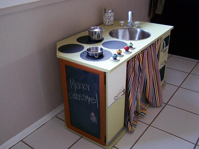 homemade play kitchen daycare setup ideas pinterest