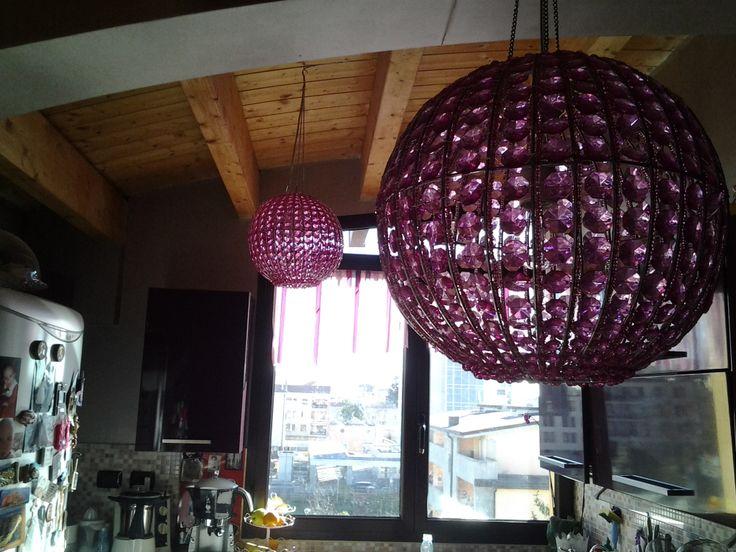 lampadari a sfera : Lampadari a sfera in cucina con vista dreams house Pinterest