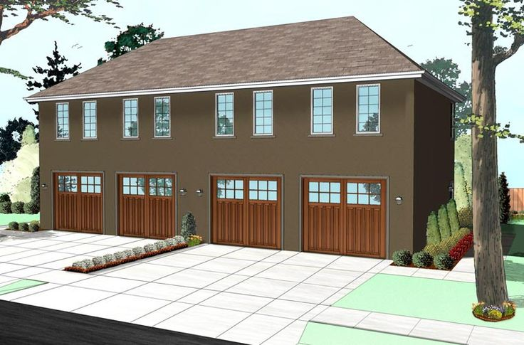 colonial traditional garage plan 41112