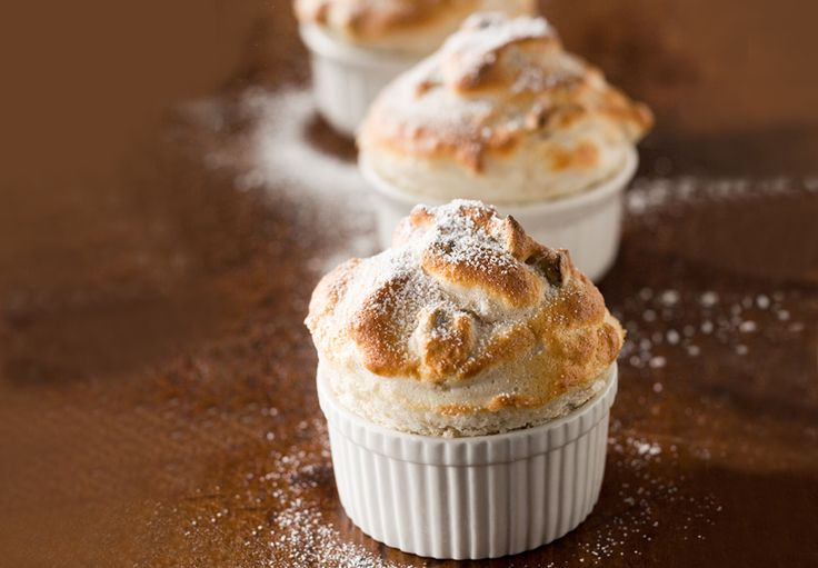 Chocolate Souffles With Brown Sugar And Rum Whipped Cream Recipes ...