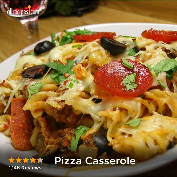 """Pizza Casserole 