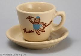 "Retro DD mug with 1950s logo and ""Dunkie"""