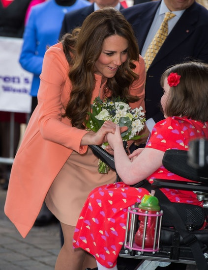 Kate Goes Solo For Royal Work on Her Wedding Anniversary: Kate Middleton chatted with a woman while visiting the hospice.