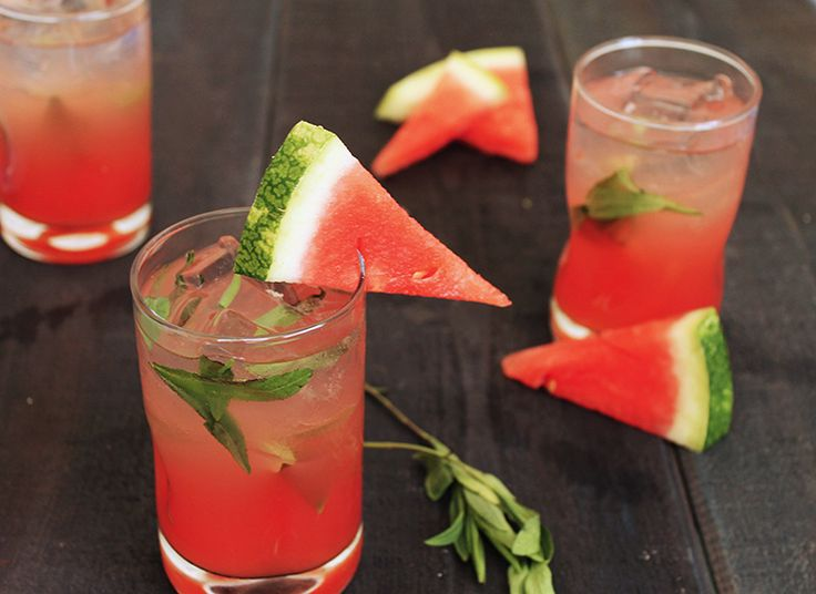 Watermelon Tarragon Cooler. I love the colors -- and the idea of ...