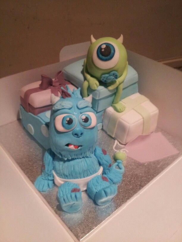 monster 39 s inc cake best friends baby shower pinterest