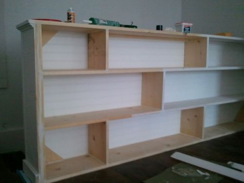 Bookcase as half wall by stairs house love pinterest - Half wall bookcase room divider ...