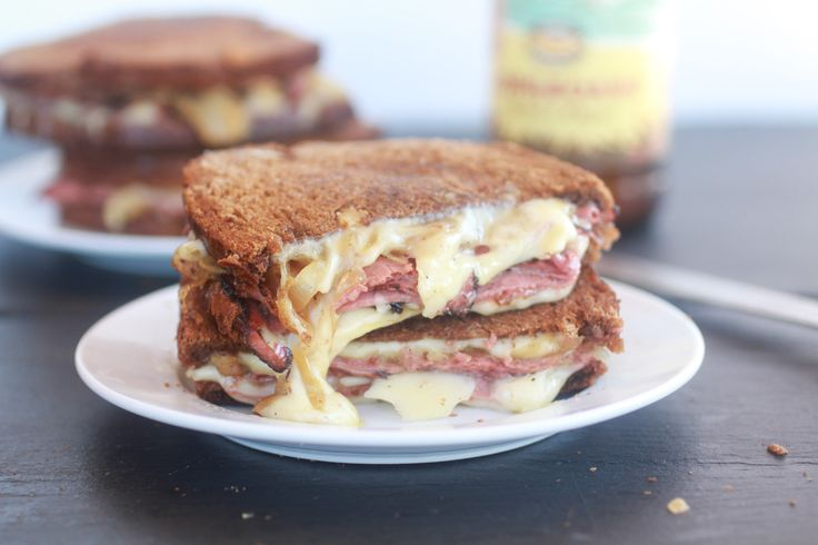 Pastrami and Caramelized Onion Grilled Cheese. - Half Baked Harvest