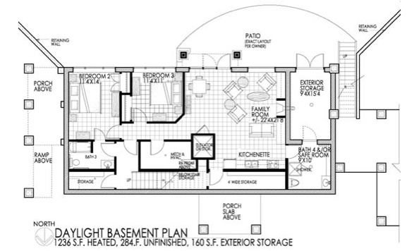 Daylight basement plan building the dream pinterest for Daylight basement house plans designs