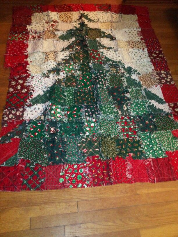 Christmas Tree Rag Quilt 2005
