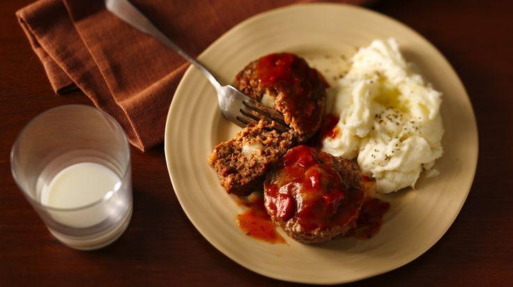 Cheese-Stuffed Giant Meatballs | Recipe