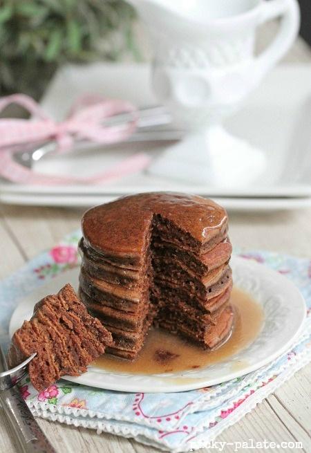 Chocolate Eggnog Baby Pancakes   Recipe