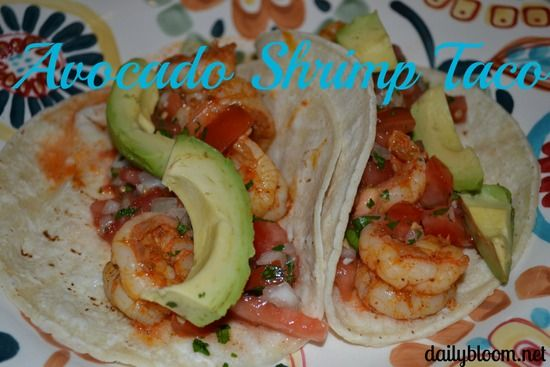 Avocado Shrimp Tacos #Recipe | yummy | Pinterest