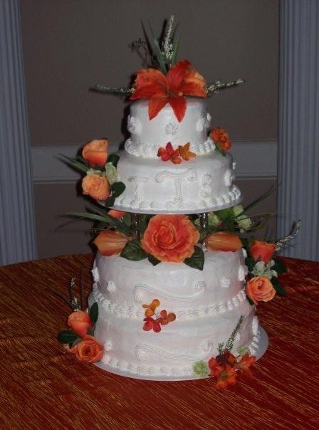 Orange Flowers Wedding Cake Wedding Cakes Pinterest
