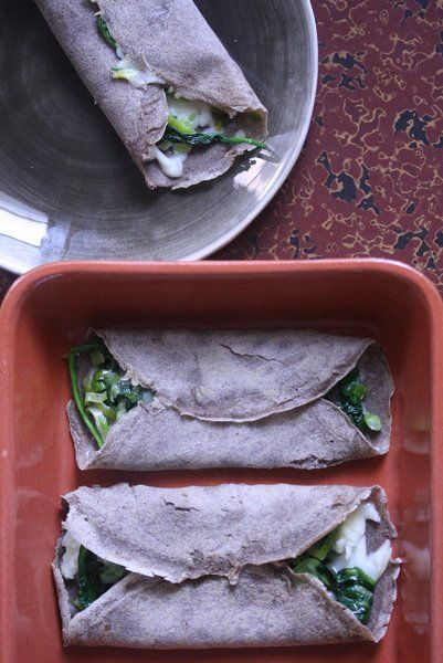 Buckwheat Crepes with Spinach, Leeks, and Gruyere #lunchbox #healthy # ...