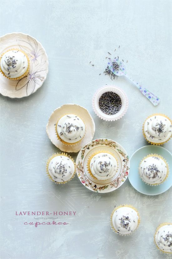 Lavender-Honey Cupcakes