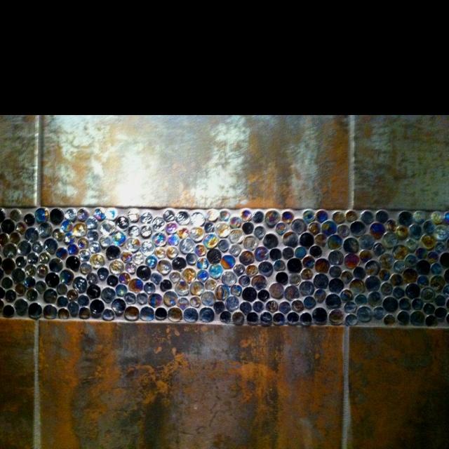 penny tile backsplash