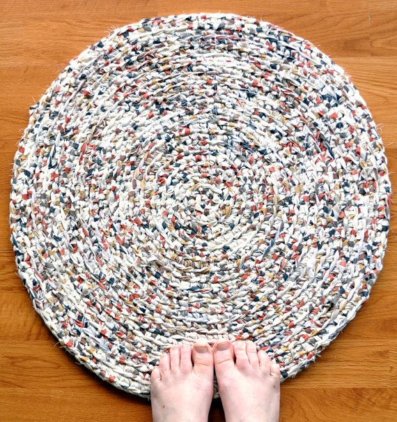 Crocheting Rag Rugs : Crochet Rag Rug - Spice Mix