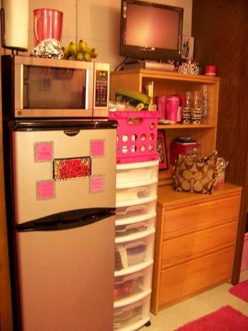 Kitchenette area  Dorm ideas  Pinterest ~ 160958_Dorm Room Ideas Storage
