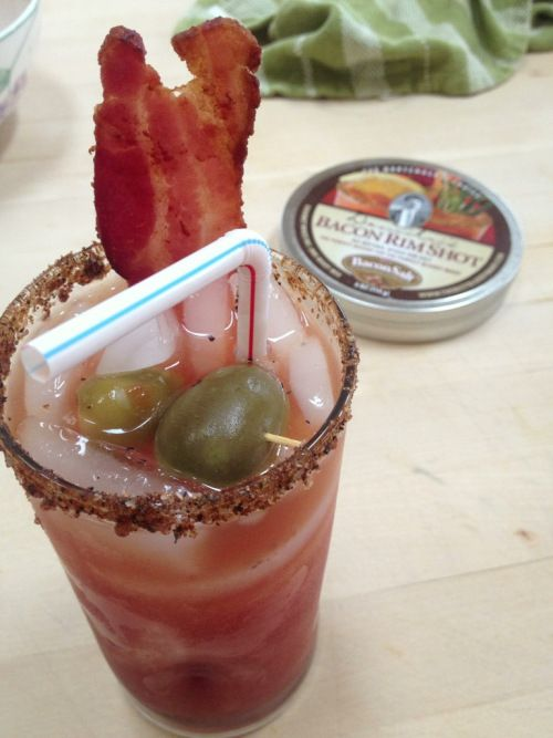 bacon bloody mary with bacon salt | Recipes - I'll Drink To That | Pi ...
