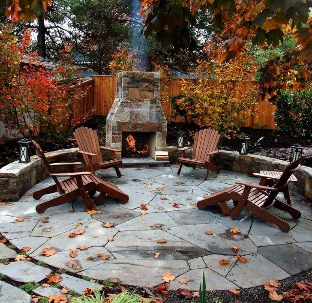 Fall Backyard Burn : Beautiful Fall dayby the cozy fire  Outdoor Living ?  Pinterest