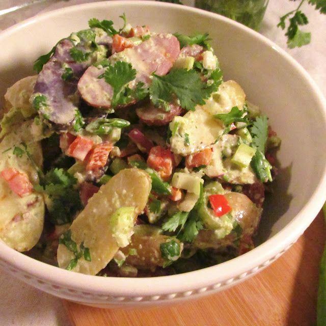American Vegetarian: Grilled Poblano Fingerling Potato Salad