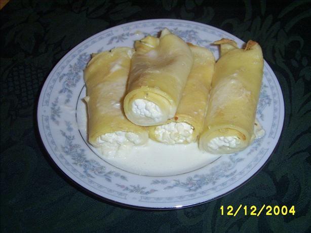 ukrainian nalysnky (cheese rolls)