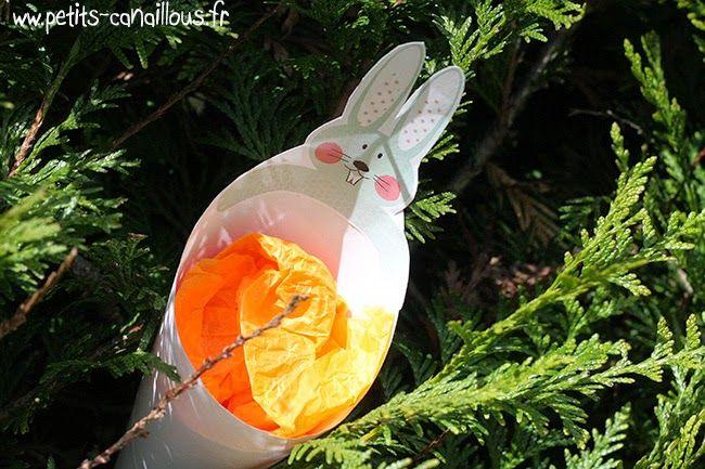 diy paques cornet panier lapin  Pâques * Easter  Pinterest