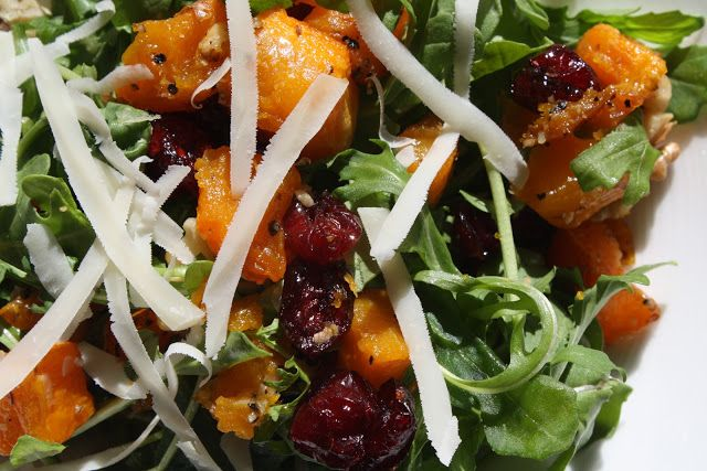 ... : Ina's Roasted Butternut Squash Salad with Warm Cider Vinaigrette