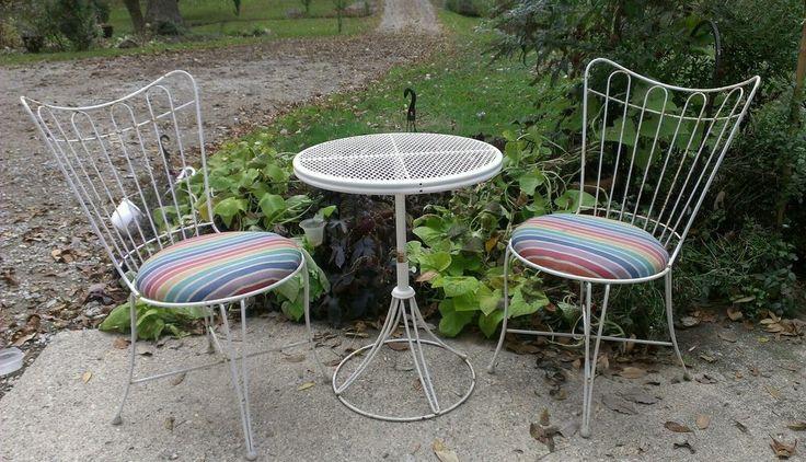 Homecrest mid century patio adjustable bistro table 2 side for Mid century bistro table