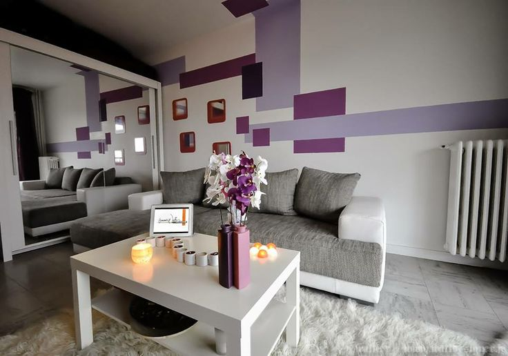 Purple Gray Living Room Decoration Pinterest