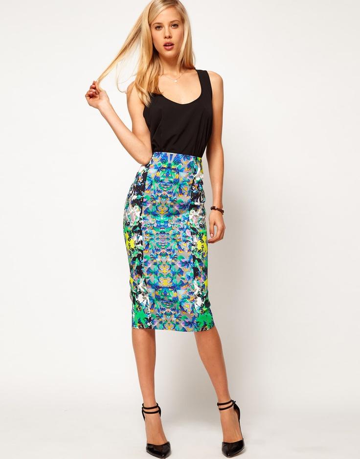 floral pencil skirt - photo #39