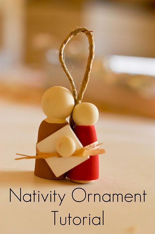 Nativity ornament holiday baby jesus pinterest