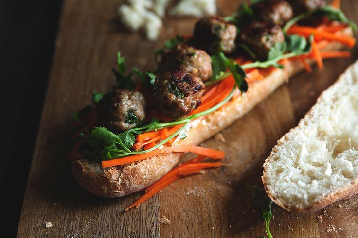 Pork Meatball Banh Mi » The Tart Tart Banh Mi- Delicious Vietnamese ...