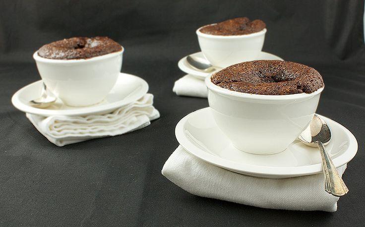 Chocolate-Hazelnut Self Saucing Cake -- crisp top, puffy cake, steamed ...