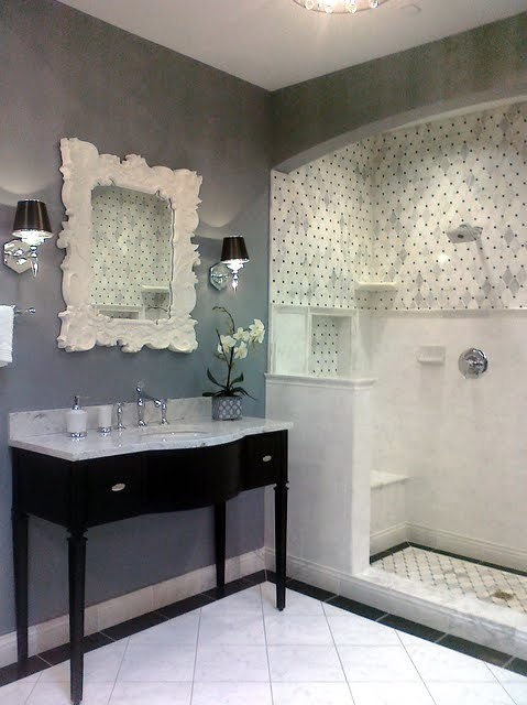 Bathroom White Grey And Black Dream Home Pinterest