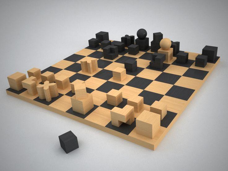 Bauhaus chess set cdf design movements of the 20th century pi - Bauhaus chess board ...